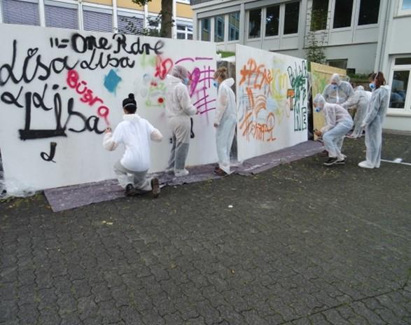 Graffitiworkshop der FSP92 im Schuljahr 2020/2021